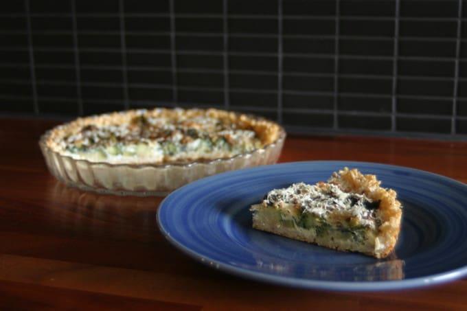 brown rice broccoli tart // the muffin myth