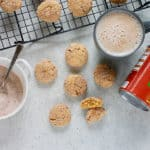 Pumpkin snickerdoodles on a grey background