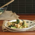 lemony roasted broccoli and tempeh with quinoa
