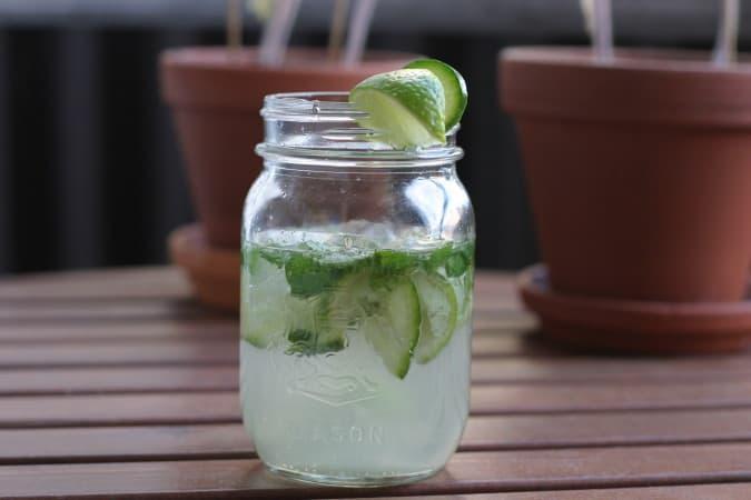 cucumber-gin-mojito