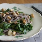soba noodle salad with spinach // the muffin myth