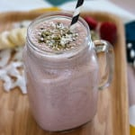 strawberry coconut super smoothie