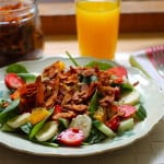 breakfast salad {with maple coconut bacon}