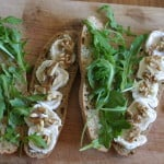 goat cheese, arugula, and honey baguette, and a trip to London