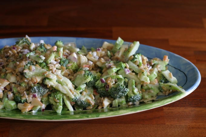 broccoli kamut slaw