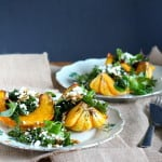 roasted carnival squash salad