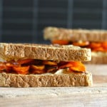honey roasted carrot and hummus sandwiches