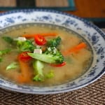five minute feel better miso vegetable soup
