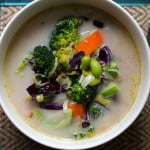 five minute feel better coconut curry soup