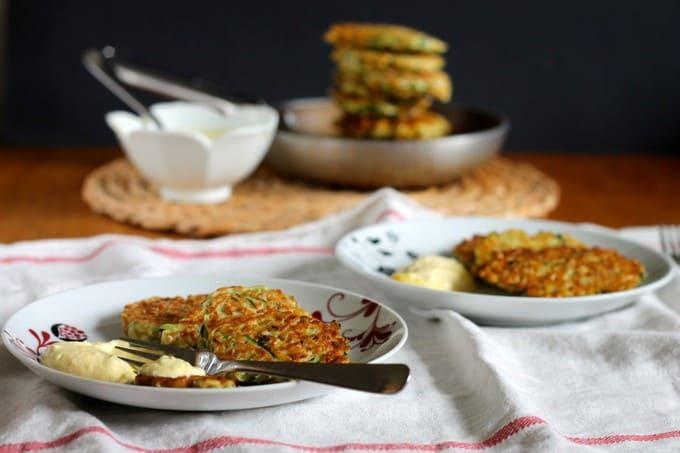 kamut and zucchini fritters