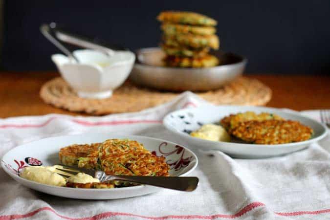 kamut zucchini fritters // the muffin myth