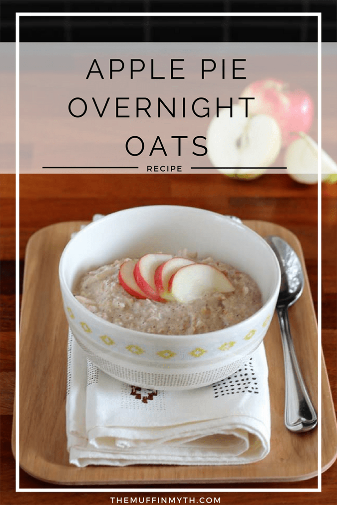 apple pie overnight oats // www.heynutritionlady.com