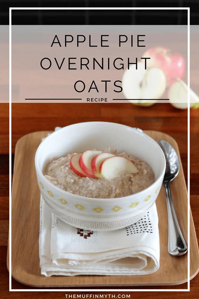 apple pie overnight oats // themuffinmyth.com