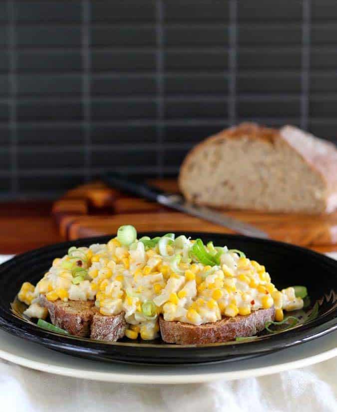 spiced corn on toast // the muffin myth