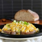toast for dinner – spiced saucy corn on toast