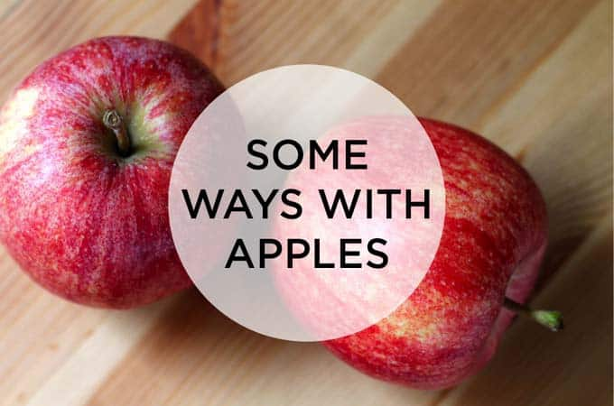 some ways with apples // the muffin myth