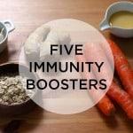 5 everyday foods to boost immunity // www.heynutritionlady.com