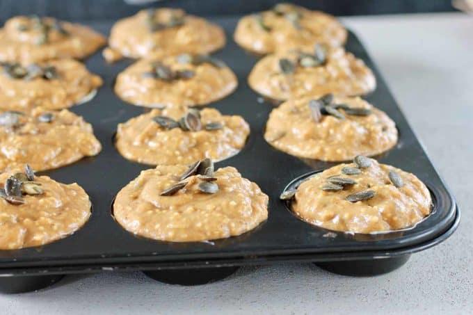 unbaked pumpkin muffins