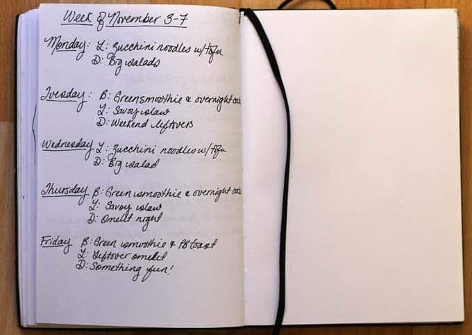 meal plan november 3-7 // www.heynutritionlady.com