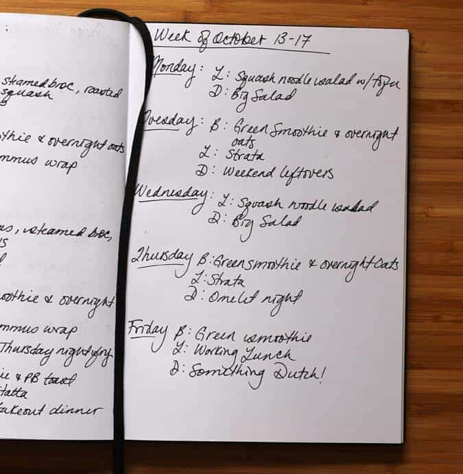 meal plan oct 13 - 17 // the muffin myth