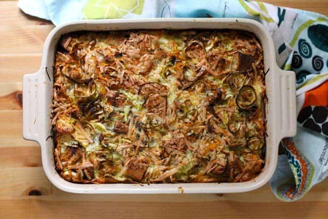 sweet potato strata with smoked gouda and leeks // the muffin myth