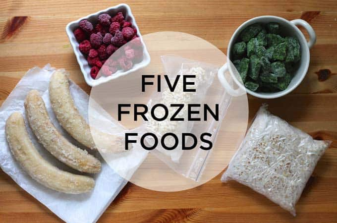 five frozen foods - winter staples to keep in your freezer // themuffinmyth.com
