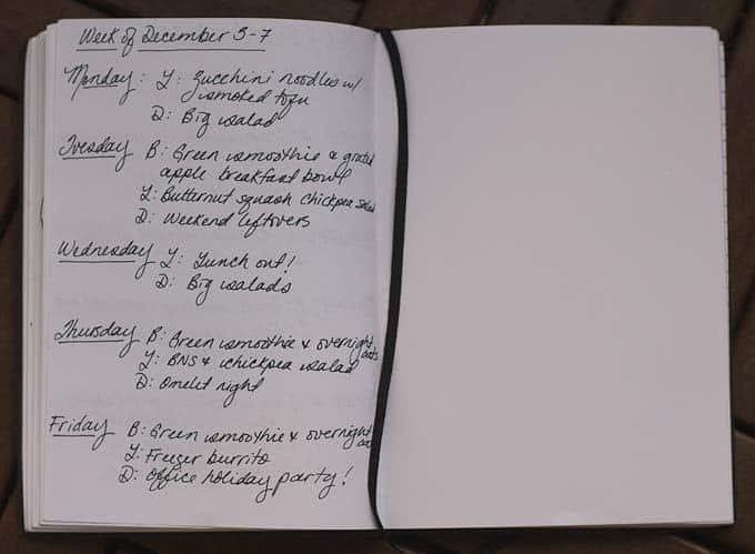 meal plan december 3-7 // www.heynutritionlady.com