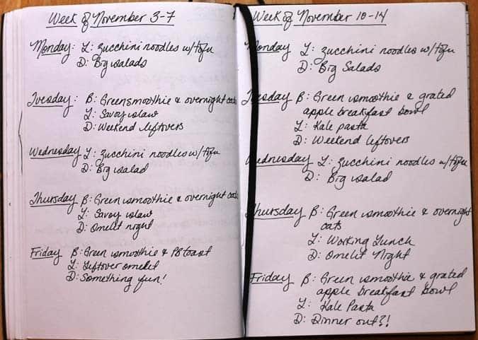 meal plan november 10 - 14 // www.heynutritionlady.com
