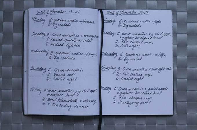 meal plan november 24 - 28 // www.heynutritionlady.com