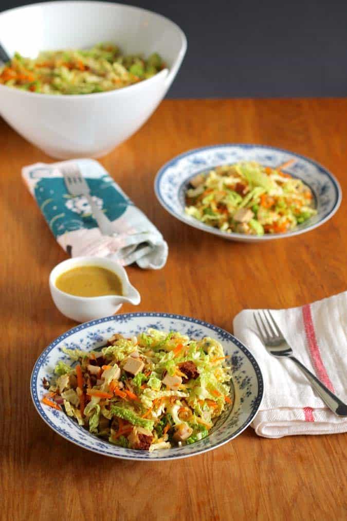 savoy slaw with smoked tofu // www.heynutritionlady.com