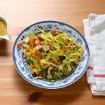 savoy slaw with smoked tofu