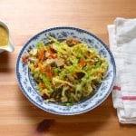 savoy slaw with smoked tofu