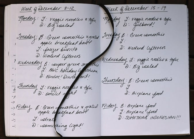 meal plan december 15-19 // www.heynutritionlady.com