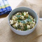 roasted cauliflower and white bean salad