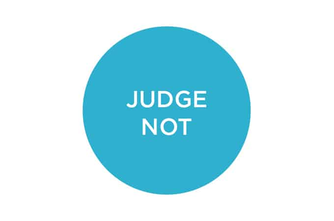 judge not // www.heynutritionlady.com