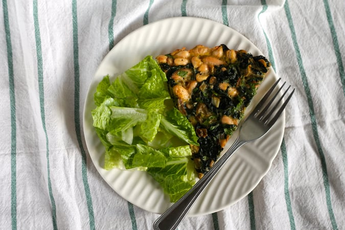 kale and white bean tortilla // www.heynutritionlady.com