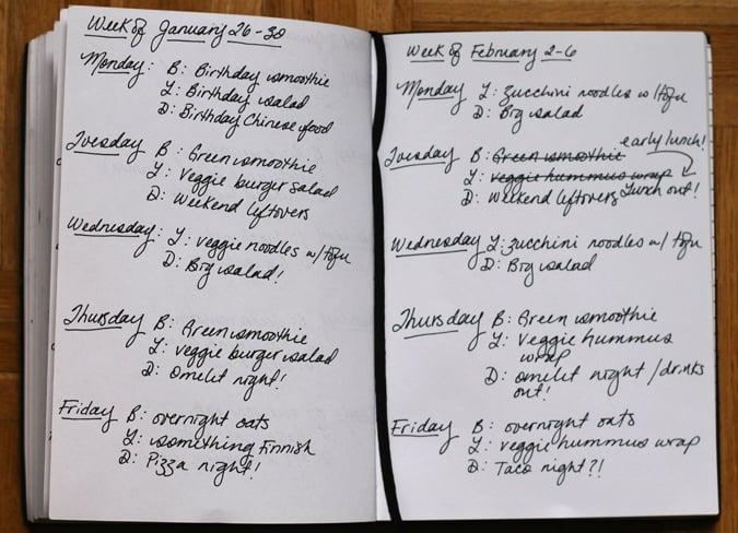 meal plan February 2-6 // www.heynutritionlady.com