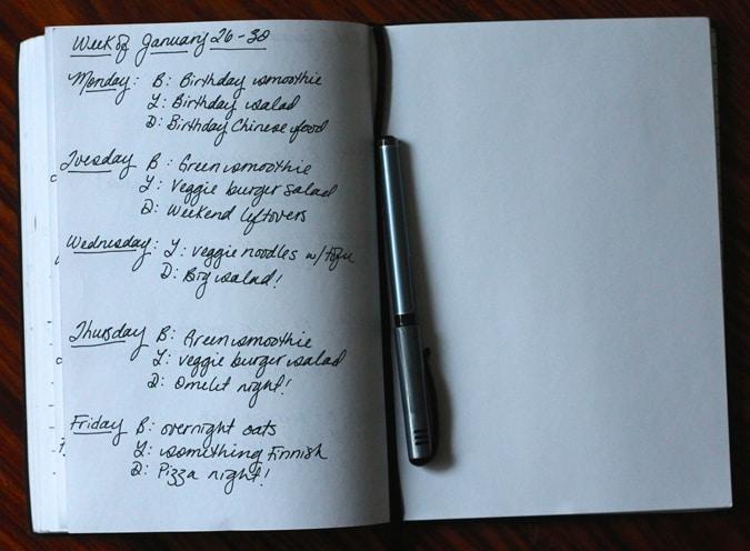 meal plan january 26-30 // www.heynutritionlady.com
