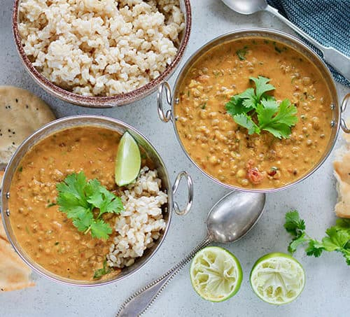 Mung Bean And Coconut Curry