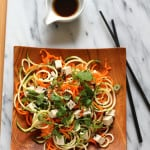 Asian veggie noodle salad {vegan and gluten free} // www.heynutritionlady.com