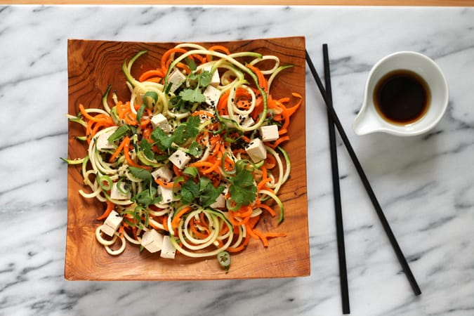 Asian veggie noodle salad {vegan and gluten free} // www.heynutritionlady.com
