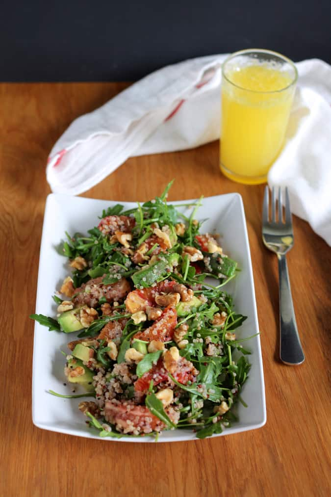 winter citrus breakfast salad with blood orange, grapefruit, quinoa, and walnuts // themuffinmyth.com