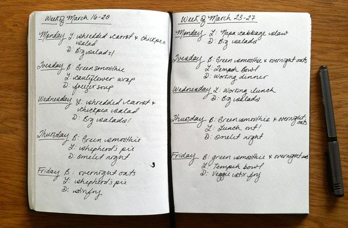 meal plan march 23 - 27 // www.heynutritionlady.com