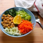 a light lunch bowl – napa cabbage slaw with chickpeas
