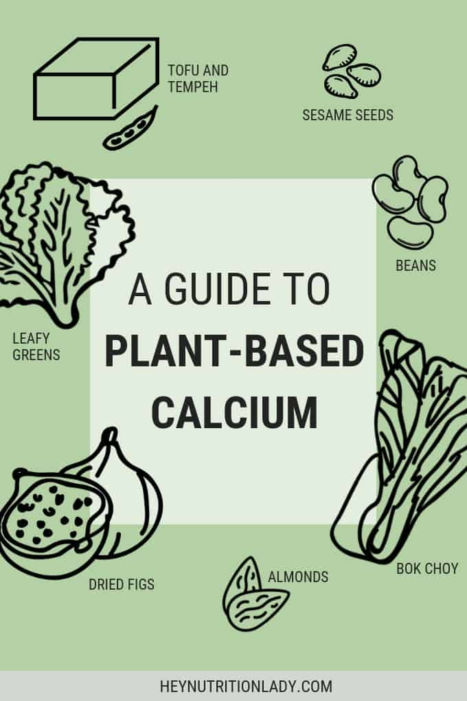 Wondering about calcium? Here's everything you need to know about getting enough calcium on a plant-based diet from a vegetarian nutritionist. #calcium #plantbased