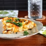spicy harissa cauliflower frittata with halloumi and capers // www.heynutritionlady.com