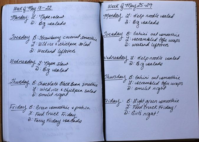 meal plan may 25 - 29 // www.heynutritionlady.com