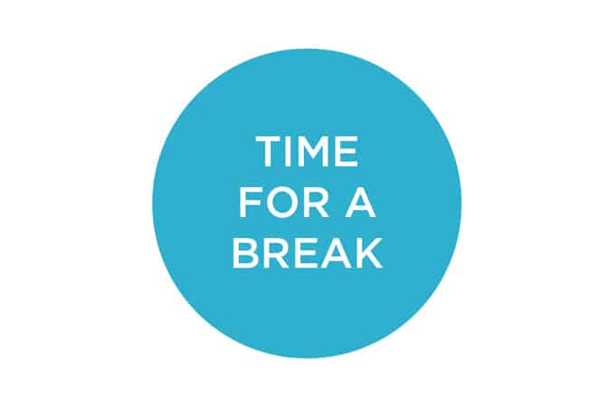 time for a break // www.heynutritionlady.com