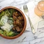 cheater caesar salad – and some news