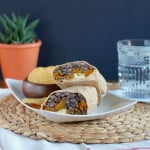 roasted butternut squash and black bean freezer burritos // www.heynutritionlady.com